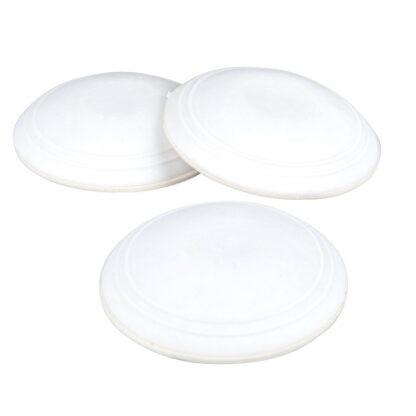 Deurstopper wit rubber Ø 6 cm (3 stuks)