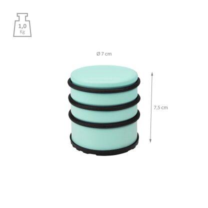 Gekleurde deurstopper 1 kg - 7 x 7,5 cm