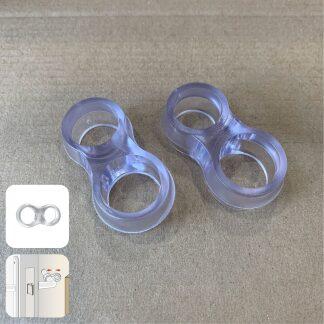 SumioProducts Deurstoppers / Muurbeschermers / Deurklink Buffers Transparant 2 stuks