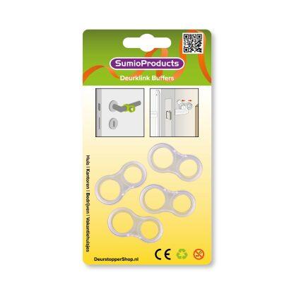SumioProducts Deurstoppers / Muurbeschermers / Deurklink Buffers 4 stuks Transparant op blister