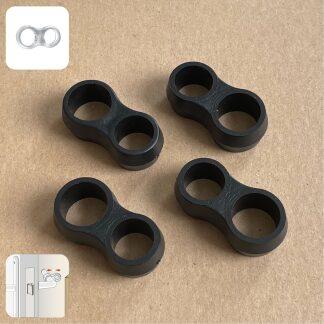 SumioProducts Deurstoppers / Muurbeschermers / Deurklink Buffers Zwart 4 stuks