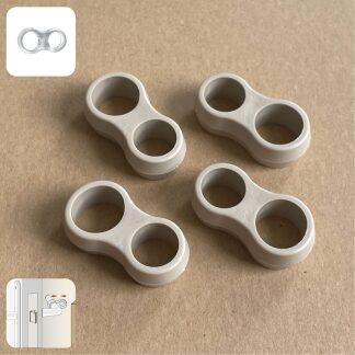 SumioProducts Deurstoppers / Muurbeschermers / Deurklink Buffers Taupe (Beige)